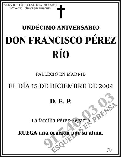 Francisco Pérez Río